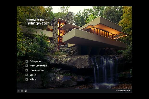 "Image of Frank Lloyd Wright ""Fallingwater"" iPad Application"