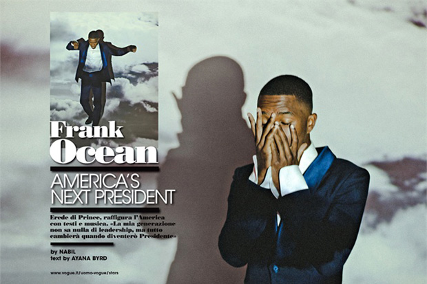 Image of Frank Ocean for LUomo Vogue