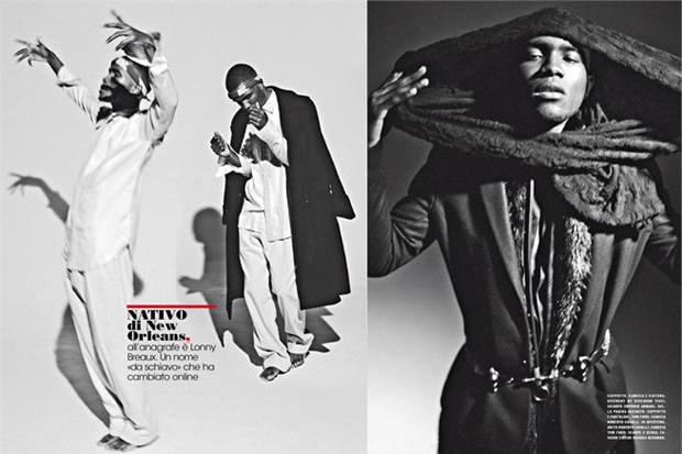 Image of Frank Ocean for L'Uomo Vogue