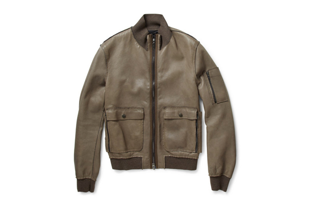Image of Lanvin Leather Bomber Jackets