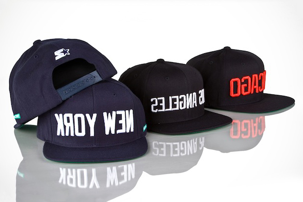 Image of Mighty Healthy x Starter New York, Chicago & Los Angeles Caps