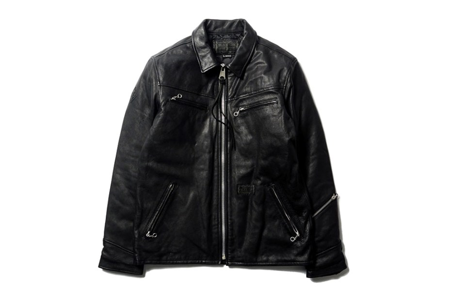 "Image of NEIGHBORHOOD ""Black Icon"" Black Hills Leather Jacket"