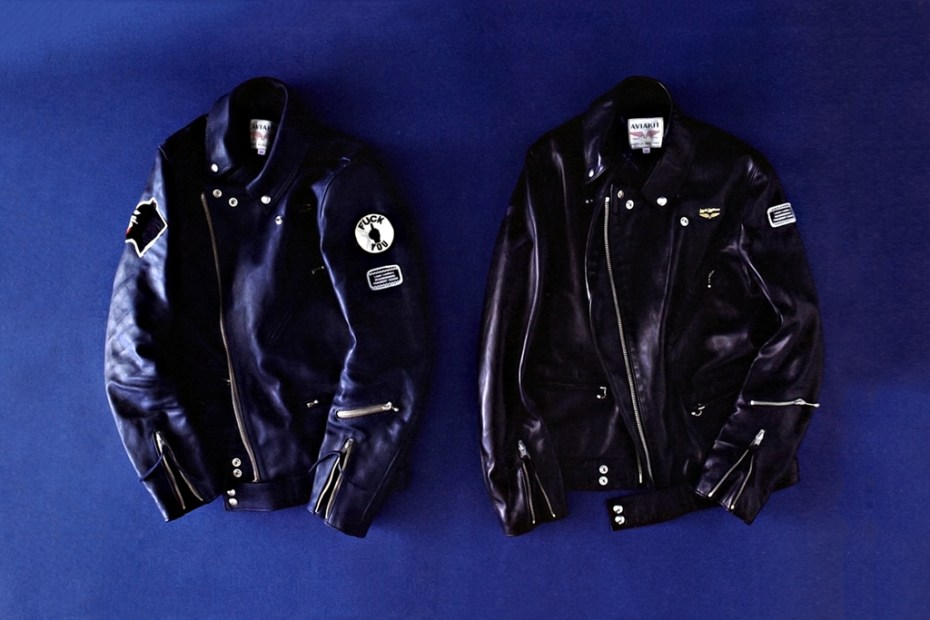 Image of NEIGHBORHOOD x fragment design x Lewis leathers Cyclone Leather Jacket