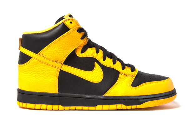 Image of Nike Dunk High Black Maize