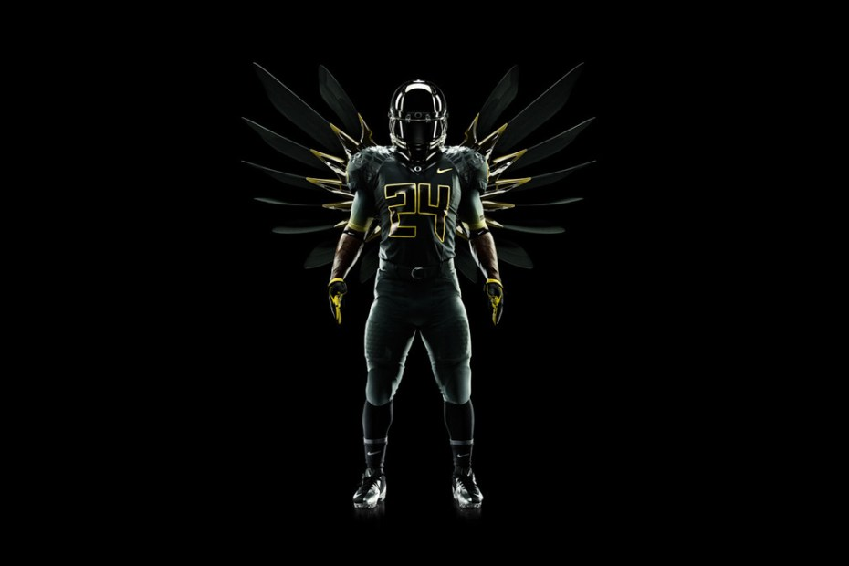 "Image of Nike Football Pro Combat System ""Oregon Ducks"" Uniforms"
