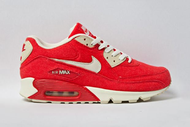 "Image of Nike Sportswear Air Max 90 ""Red Canvas"""