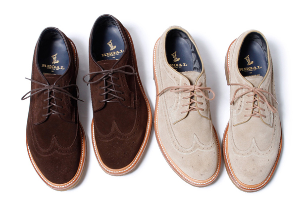Image of nonnative x Regal GORE-TEX 2L Cow Suede Dweller Wingtips