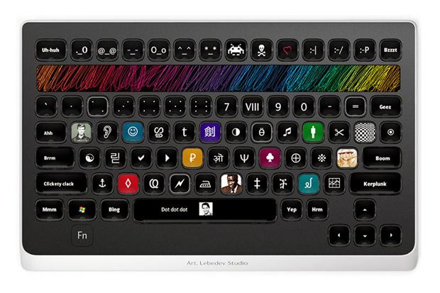"""Image of """"Optimus Popularis"""" Keyboard by Art. Lebedev Studio"""