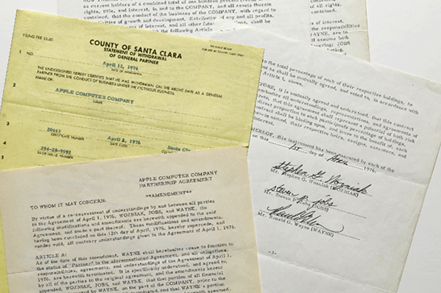Image of Original Apple Contract Signed by Steve Jobs Fetches $1.6 Million at Sotheby's