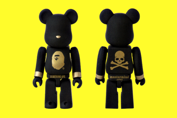 Image of SENSE x A Bathing Ape x mastermind JAPAN 100% Bearbrick
