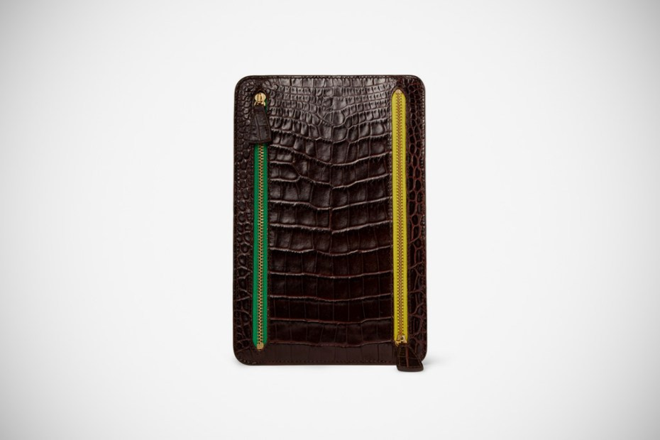 Image of Smythson Crocodile-Embossed Leather Wallet