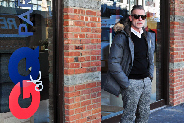 Image of Streetsnaps: Nick Wooster @ GQ x Park & Bond Pop-Up Shop