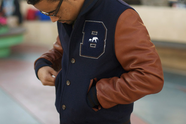 "Image of The Brooklyn Circus ""Shelby Blues"" Varsity Jacket"