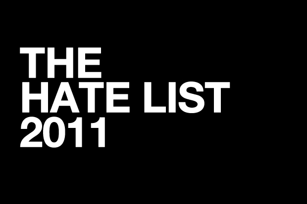 Image of THE HATE LIST 2011