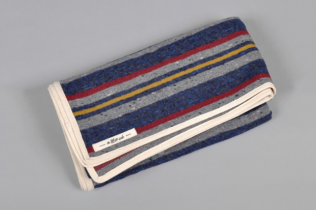 Image of The Hill-Side Wool Blend Stripe Throw Blanket for Hickoree's