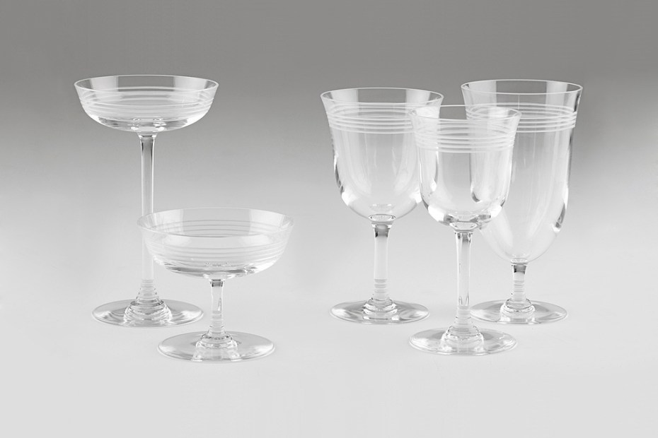 Image of Thom Browne Baccarat Crystal Stemware Set