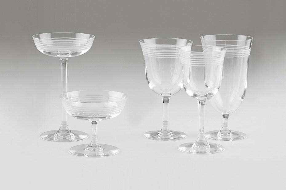 Image of Thom Browne Baccarat Crystal Stemware Set