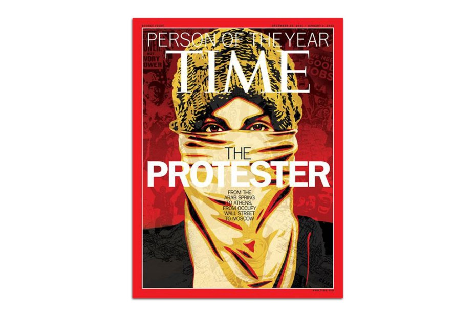 "Image of TIME Magazine ""Person of the Year"" Cover by Shepard Fairey"