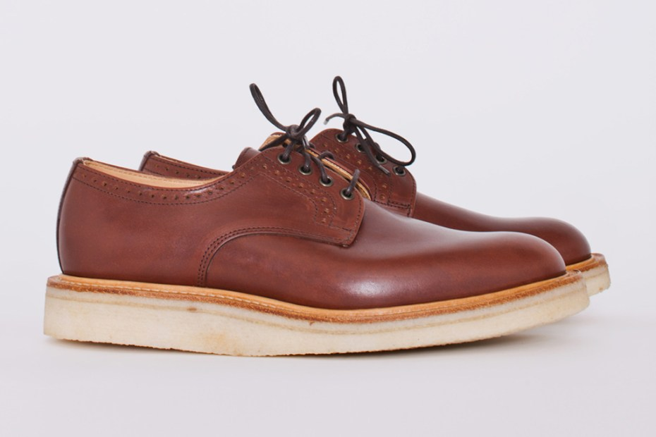 Image of Trs Bien Shop x Mark McNairy Punched Quarter Waxy Tan Derby