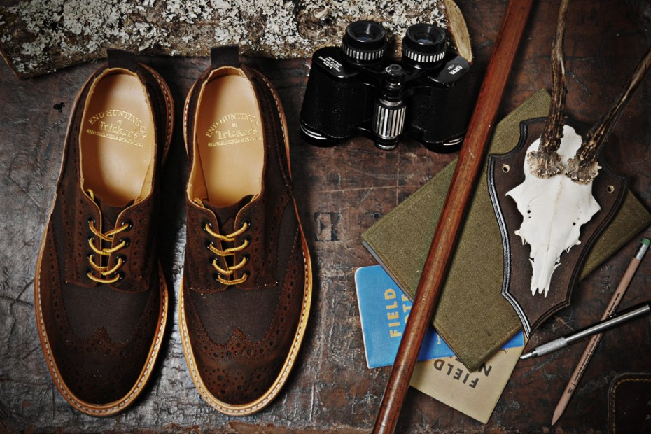 Image of Tricker&#039;s for End Hunting Co. Waxy Espresso Two Tone Brogue &amp; Super Boot  