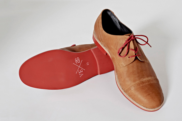 Image of Stussy x Vanishing Elephant Tan Leather Derby
