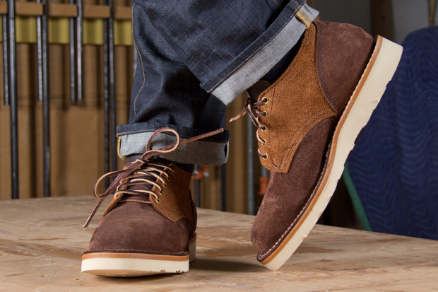 Image of Viberg Old Oxford Two Tone Suede