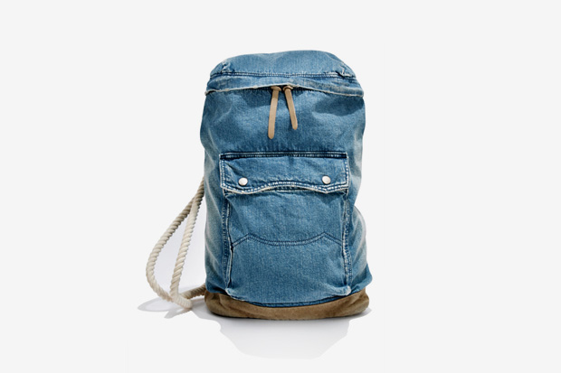 Image of White Mountaineering x Porter USED DENIM ONE SHOULDER BAG