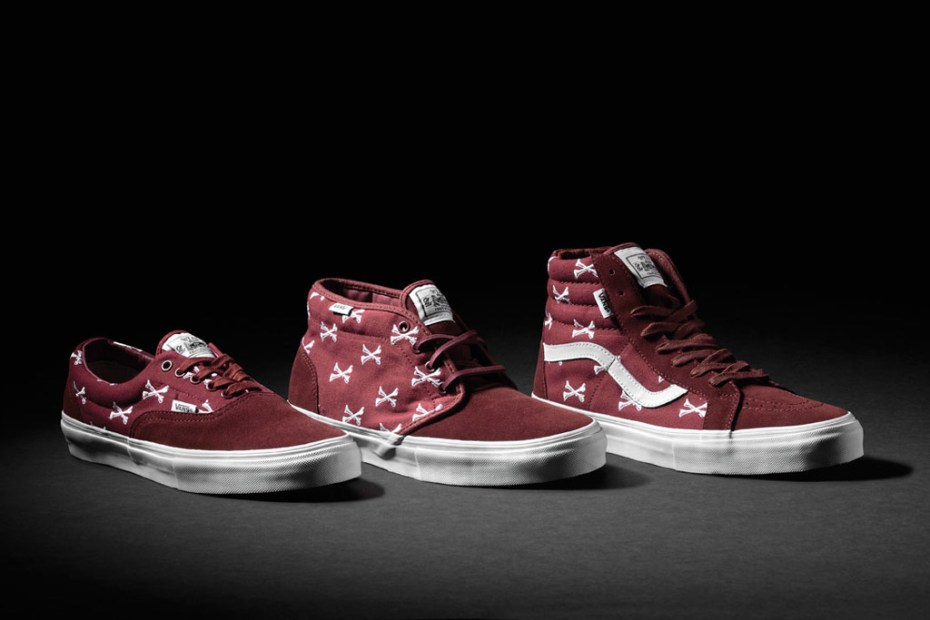 Image of WTAPS x Vans Syndicate Burgundy Bones Pack