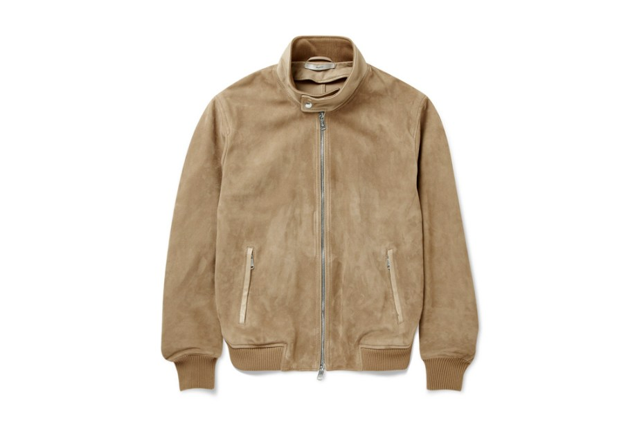 Image of Yves Saint Laurent Suede Biker Jacket
