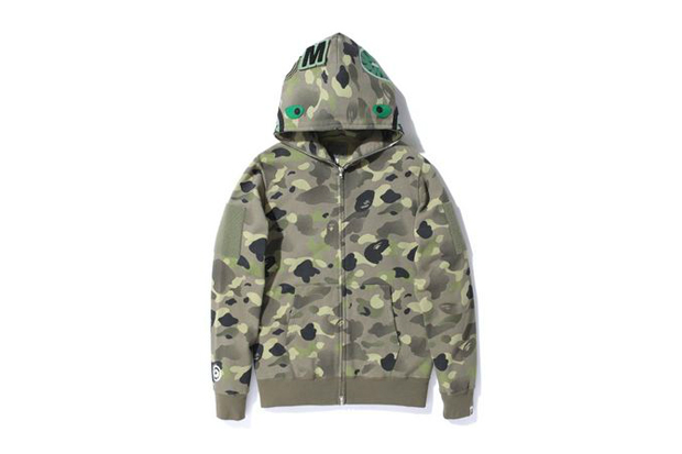 Image of A Bathing Ape 1ST CAMO GRADATION SHARK FULL ZIP HOODIE