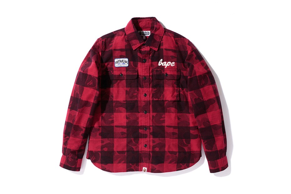 Image of A Bathing Ape ABC BAFFALO CHECK FLANNEL SHIRTS