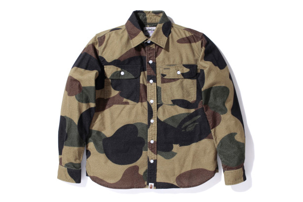 Image of A Bathing Ape GIANT 1ST CAMO FLANNEL SHIRT