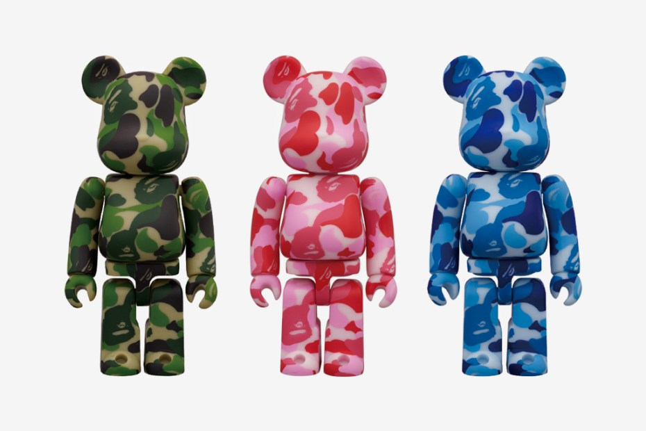 Image of A Bathing Ape x Medicom Toy Camo Bearbricks