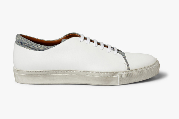 Image of Acne Carlo Leather & Denim Shoes