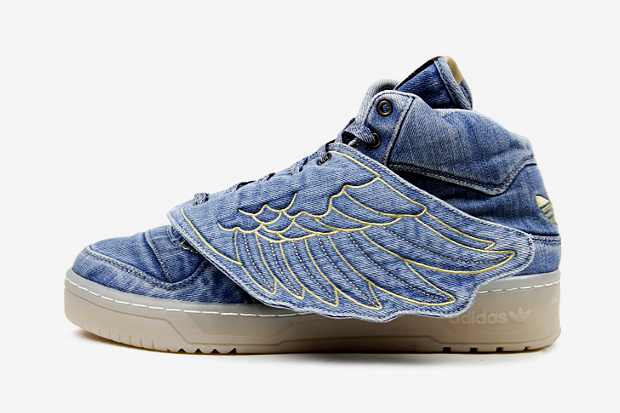Image of adidas Originals by Jeremy Scott JS Wings Denim Further Look