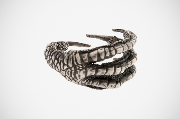 Image of Ann Demeulemeester Oxidized Sterling Silver Claw Ring