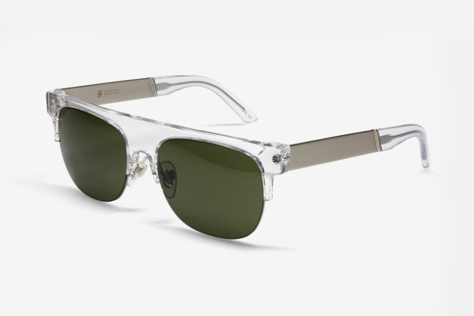 Image of Barneys NYC x SUPER Evergreen Sunglasses
