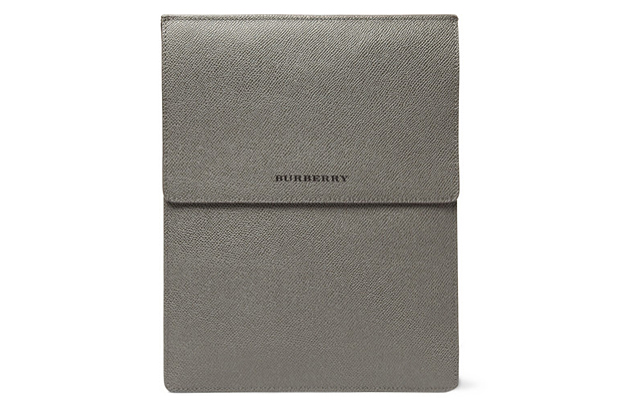 Image of Burberry London Cross Grain Leather iPad Case