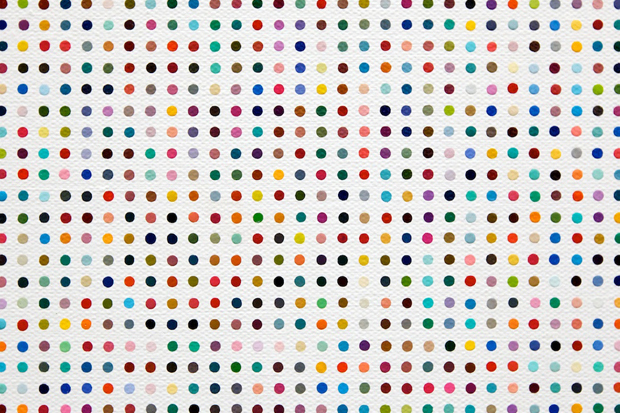 Image of Gagosian Gallery Announces Damien Hirst Spot Challenge Winners