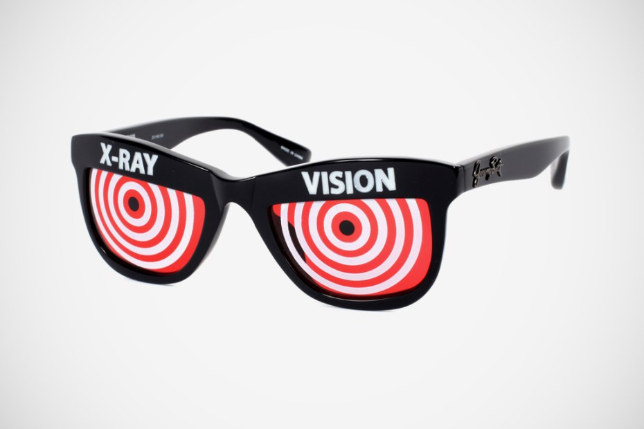 "Image of Jeremy Scott x Linda Farrow ""XRay"" Sunglasses"