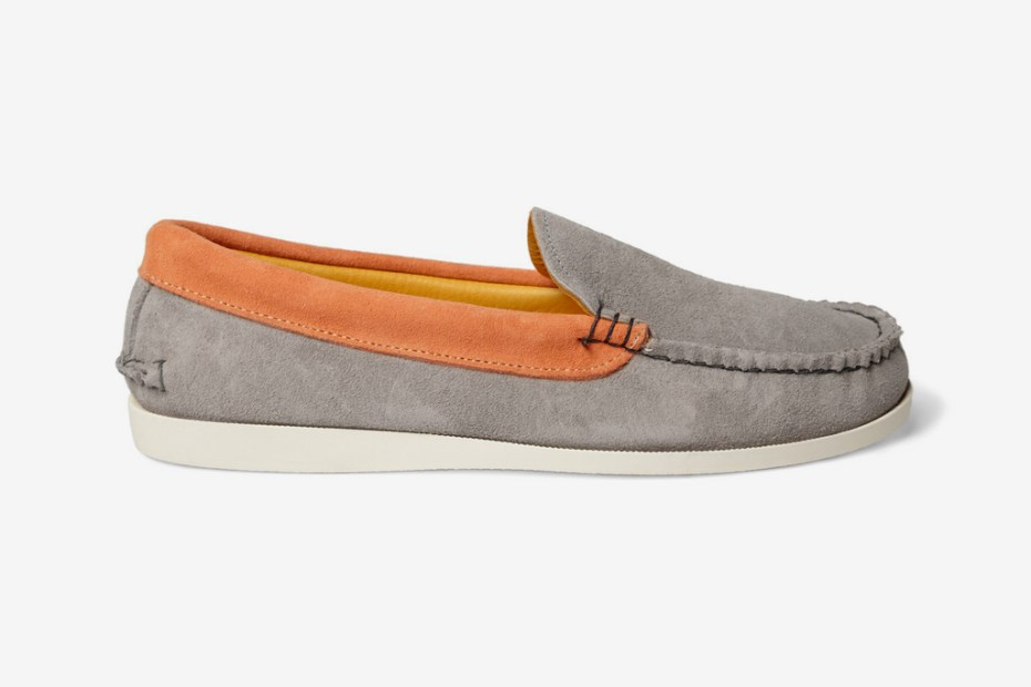 Image of Kitsune x Quoddy Two-Tone Suede Boat Shoes