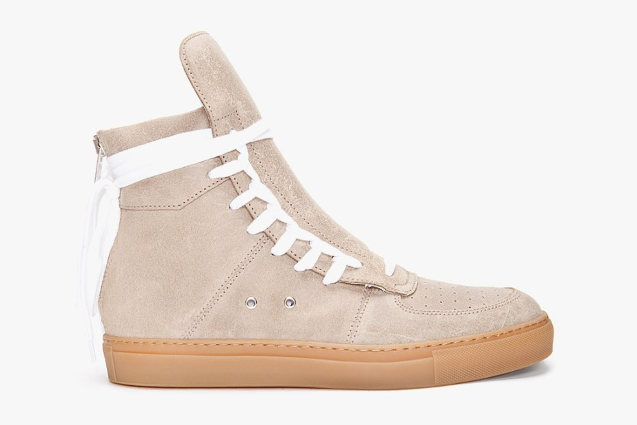 Image of KRIS VAN ASSCHE 2012 Spring/Summer High-Top Suede Sneakers
