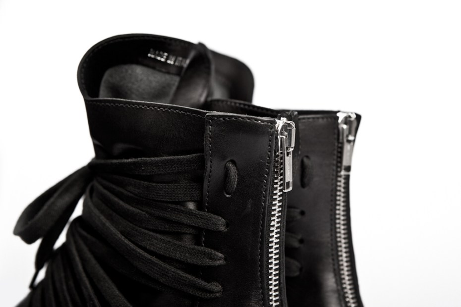 Image of KRIS VAN ASSCHE 2012 Spring/Summer Leather Hi-Top Sneakers