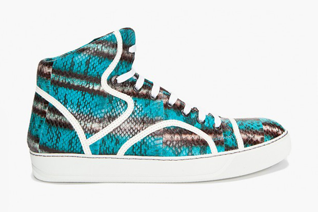 Image of Lanvin Water Serpent Tennis Sneakers