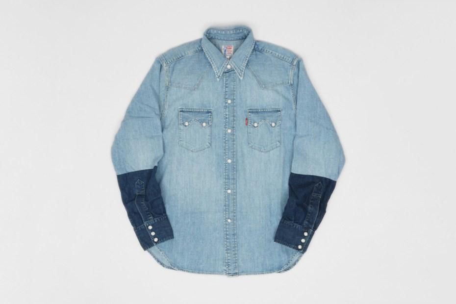 Image of Levi's Vintage Clothing Customised Sawtooth Denim Shirt