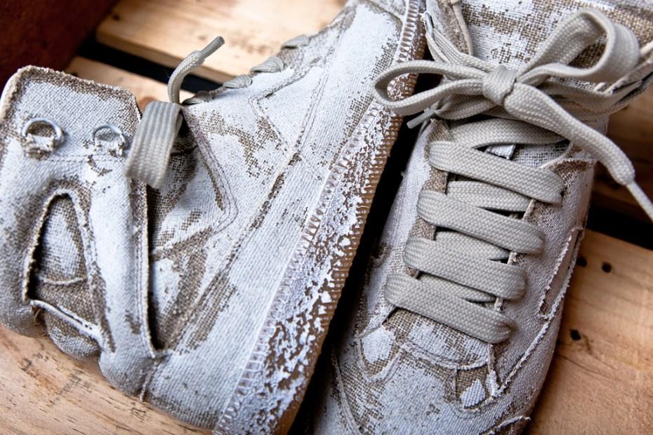 Image of Maison Martin Margiela Hand-Painted Replica Hi-Top Sneaker