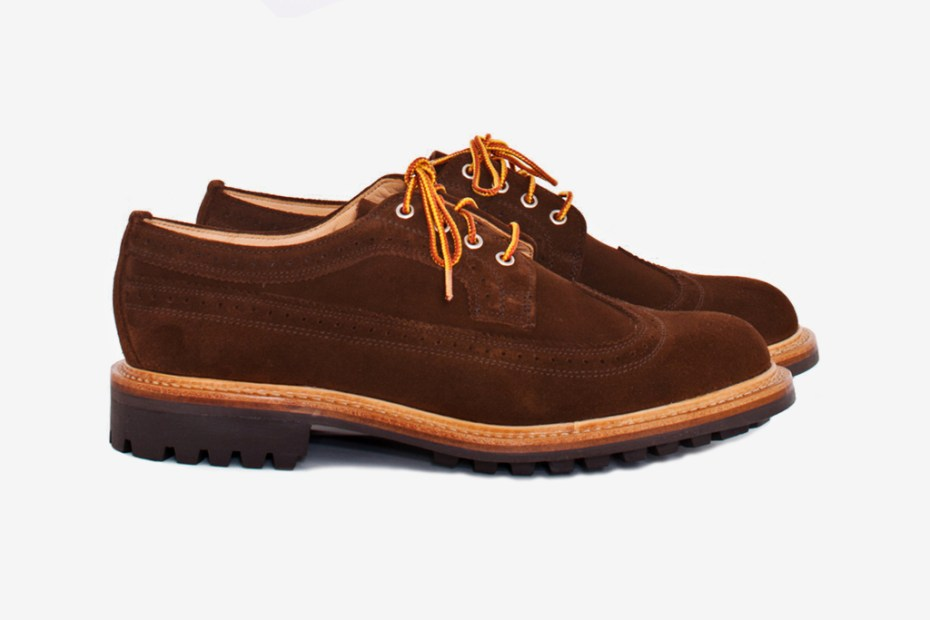 "Image of Mark McNairy for Tres Bien Shop ""Snuff Brown"" Long Wing Brogue"