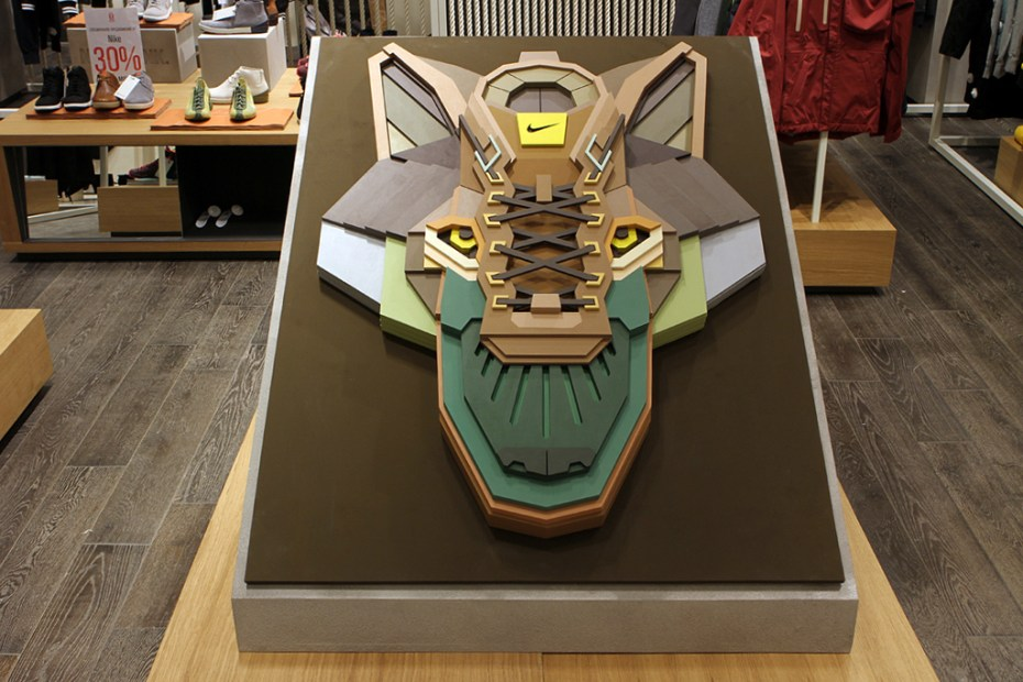 "Image of Nike Sportswear x Sicksystems 'The Wolf"" Plywood Sculpture"