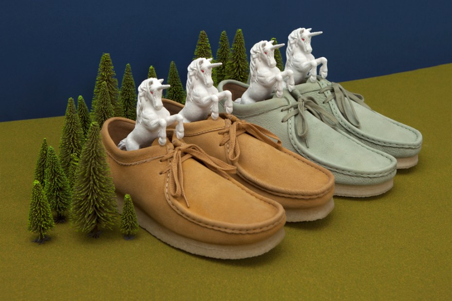 Image of Oi Polloi x Clarks Originals Unicorn Leather Wallabee Pack
