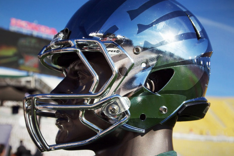 Image of Oregon Ducks Rose Bowl Chrome Helmet